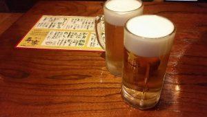 焼き鳥 寿家生ビール