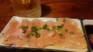 焼き鳥 寿家鶏刺身